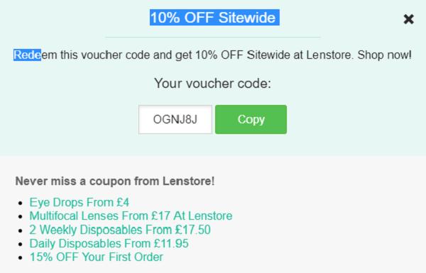 Lenstore Discount codes