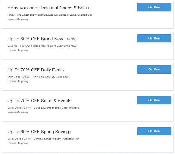 eBay discount code uk