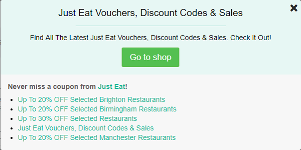 Just Eat discount codes