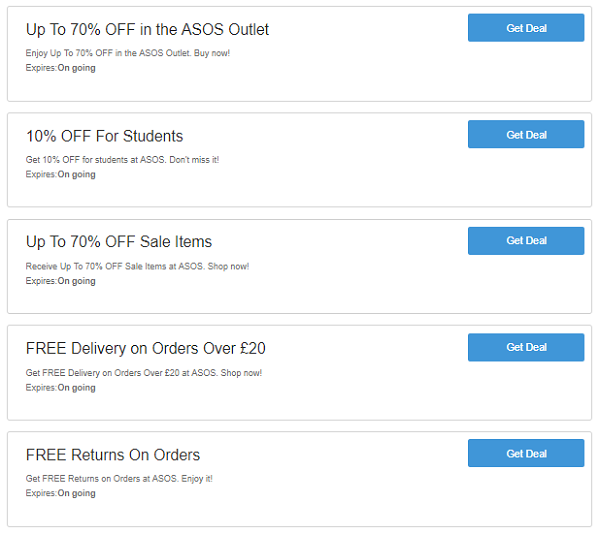 832f070b283ba Valid ASOS Discount Codes UK – Up To 50% OFF & FREE Delivery