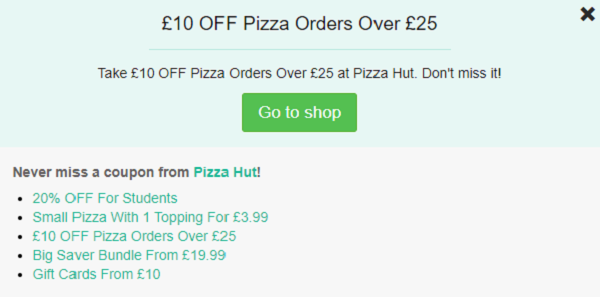 Pizza Hut Vouchers