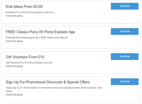 Pizza express voucher