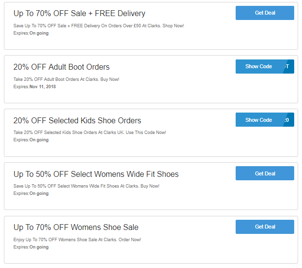 39a8f409134 Clarks Discount Codes   Voucher Code – 25% OFF On Your Shoes