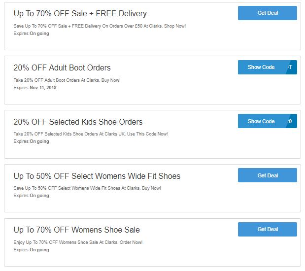Clarks discount codes
