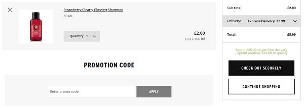 The Body Shop voucher discount code