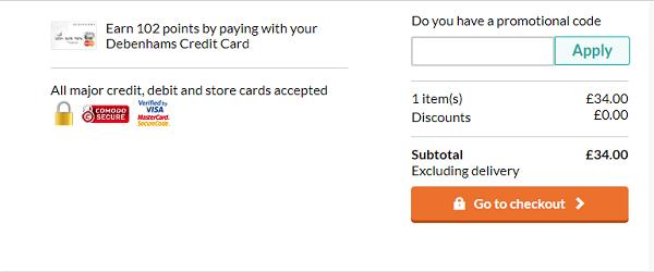 discount codes for Debenhams