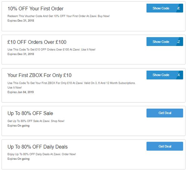Zavvi discount codes