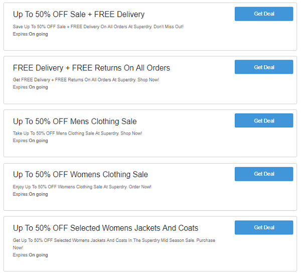 Superdry discount codes