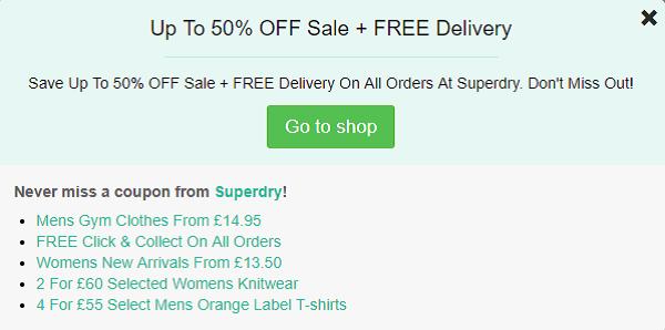 Superdry discount code