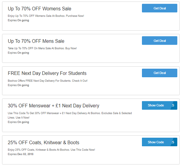 5db60bd2b1 Boohoo Discount Codes, Voucher Code - Up To 20% OFF On Order