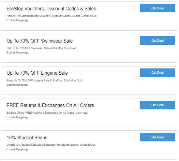 BraStop discount codes