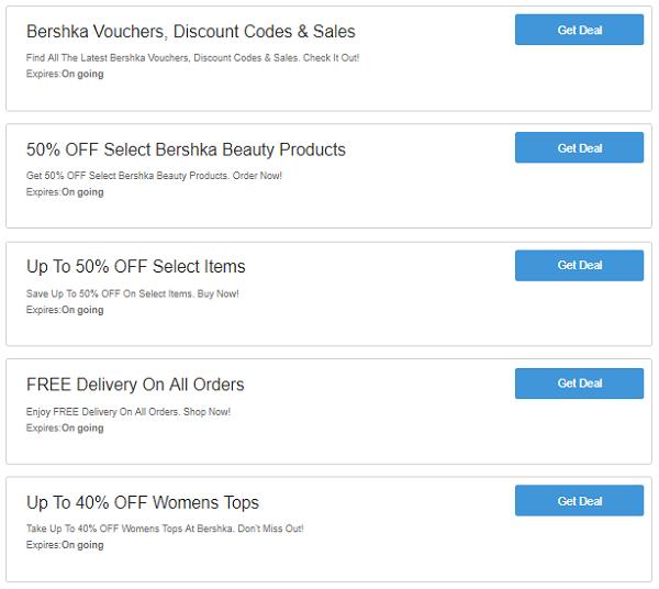 481b380e2aba Bershka Promo Codes   Discount Code - Up To 10% OFF