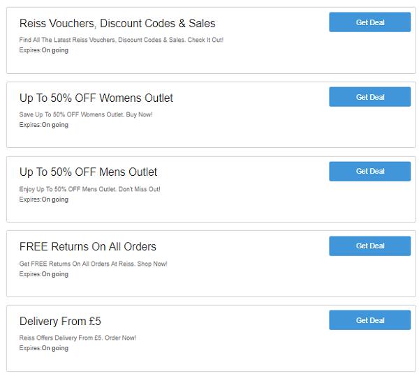 Reiss discount codes