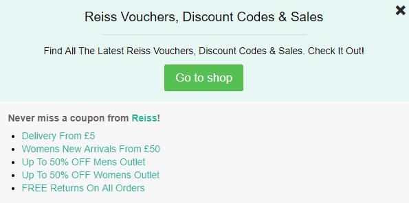 Reiss discount code