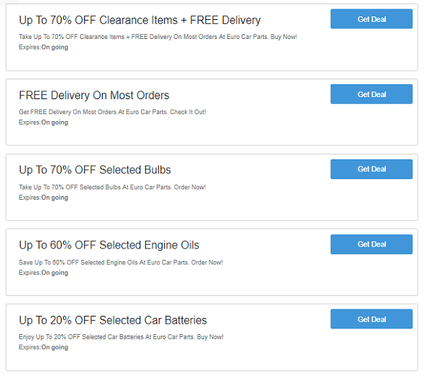 Euro Car Parts discount codes