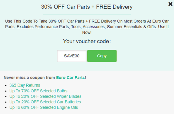 Euro Car Parts Discount Codes Voucher 50 Off Tested