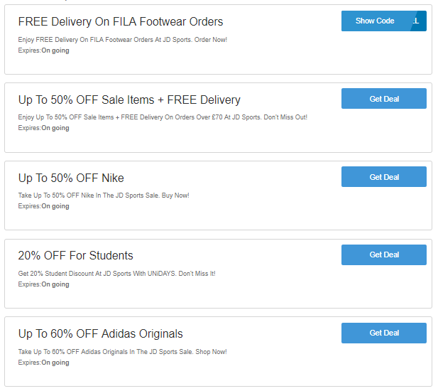 JD Sports discount codes