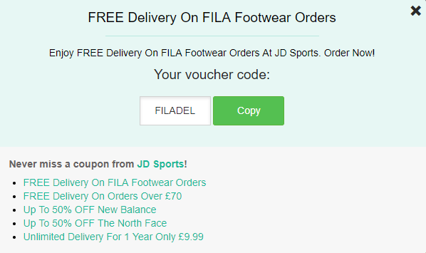 JD Sports Discount Codes, Voucher - £10 OFF + FREE Delivery