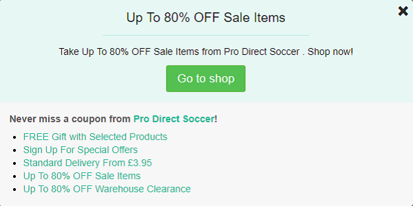 Pro-Direct Soccer voucher code