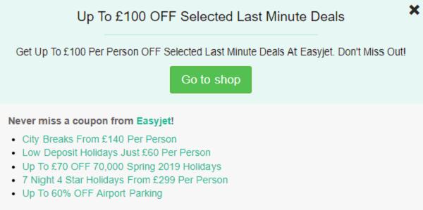 EasyJet discount code