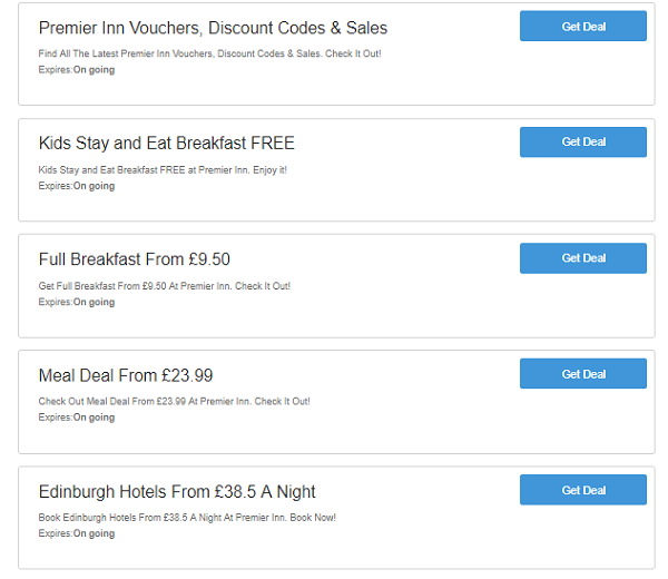 Premier Inn discount codes