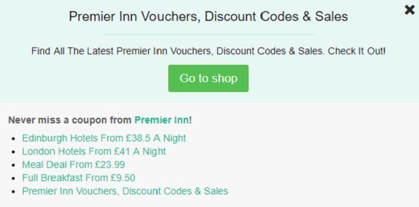 Premier Inn discount code