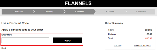 discount code for Flannels