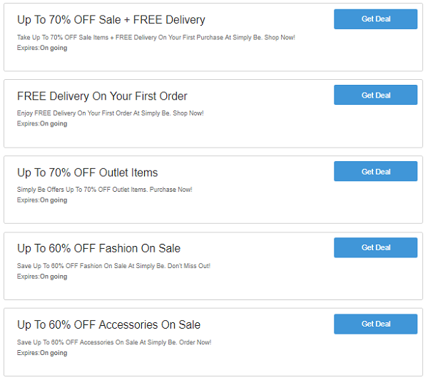 Simply Be discount codes