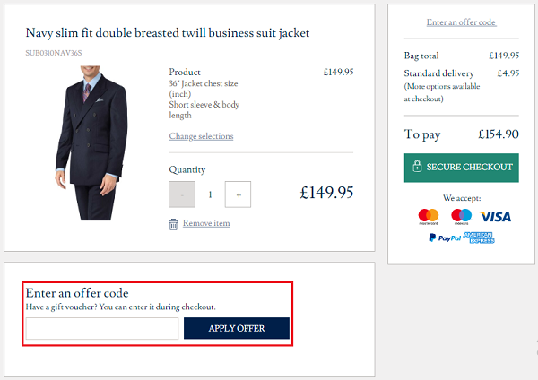 discount codes for Charles Tyrwhitt