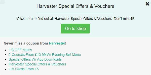 Harvester voucher