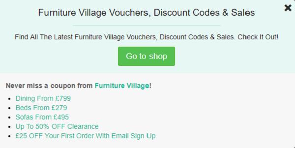 Furniture Village discount code