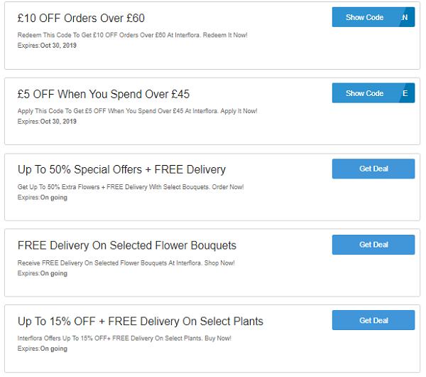 Interflora discount codes