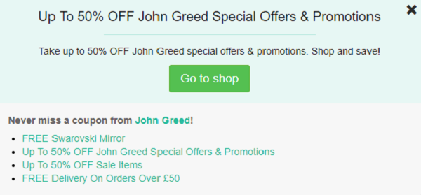John Greed promo codes