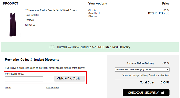 discount code for Dorothy Perkins