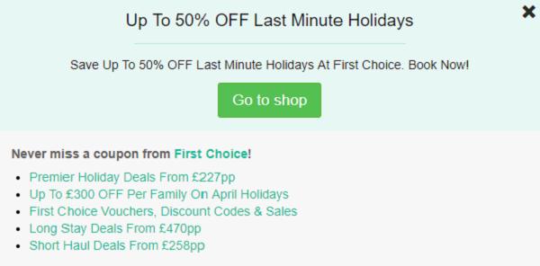 First Choice discount code