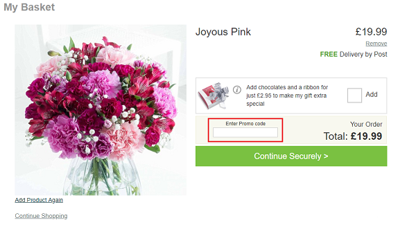 promo code for Flying Flowers