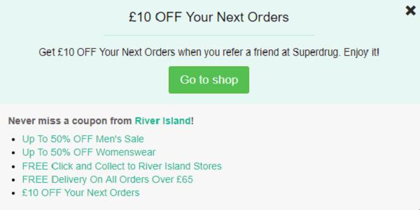 River Island discount code