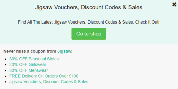 Jigsaw discount code