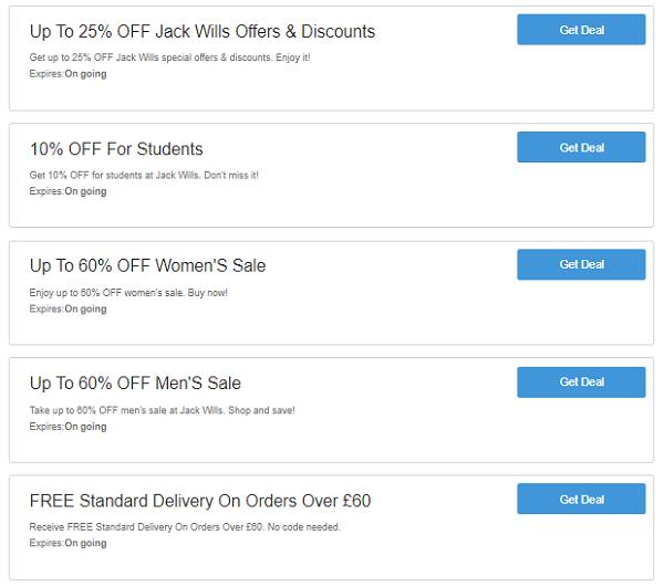 Jack Wills discount codes
