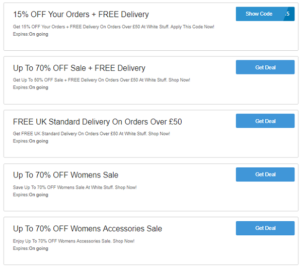 White Stuff discount codes