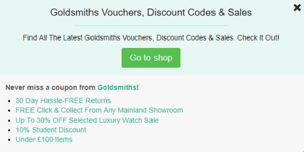 Goldsmiths discount code