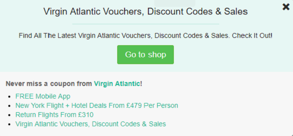Virgin Atlantic discount