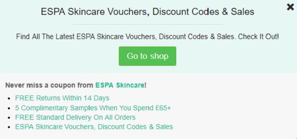 Espa Skincare discount code