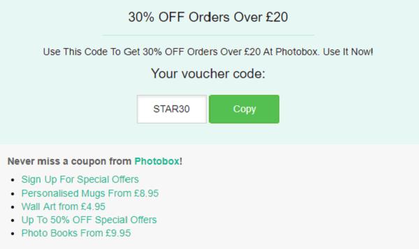 Photobox discount code