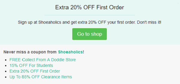 Shoeaholics discount code