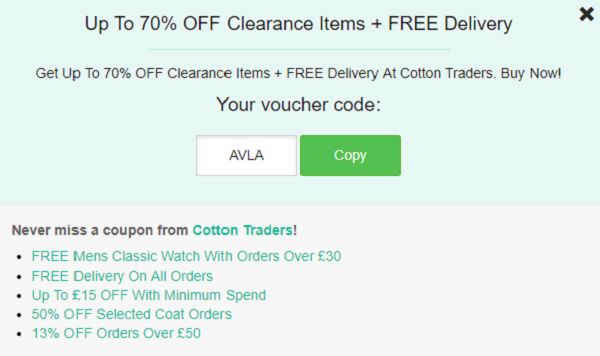 Cotton Traders discount code