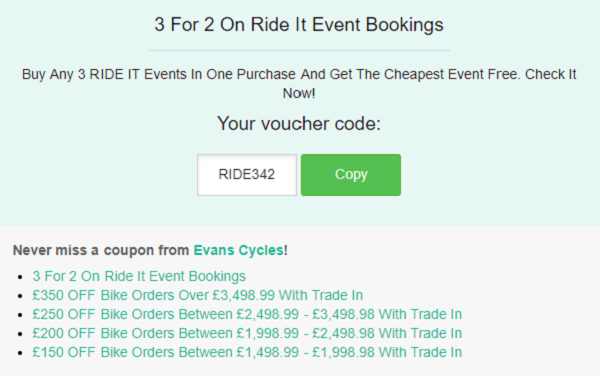 Evans Cycles discount code