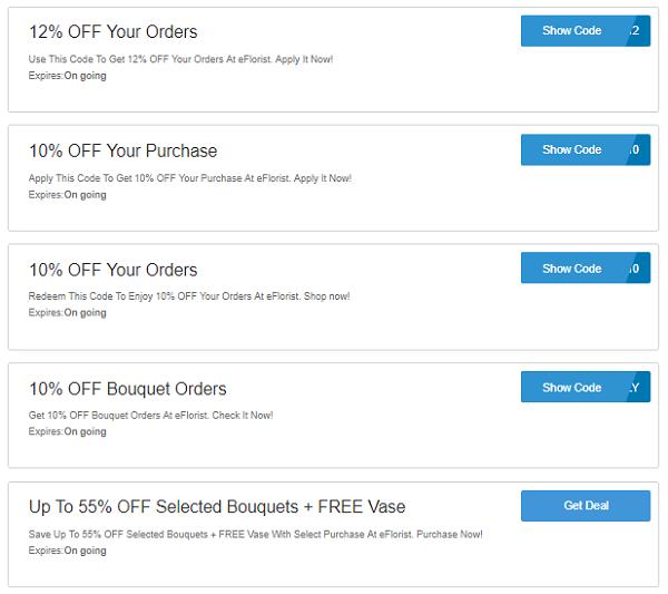 eFlorist discount codes