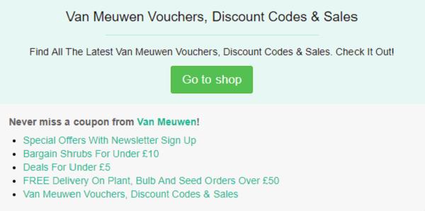 Van Meuwen discount code