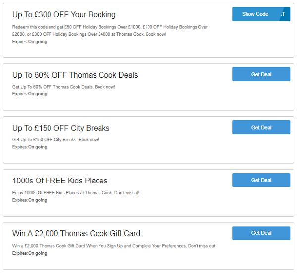 Thomas Cook discount codes